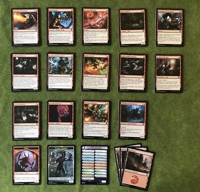 MTG - Eldritch Moon (EMN) - Full Playset of Commons - Red