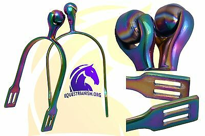Multi Color Horse Riding Spurs / Horse Riding Lite Weight Spurs