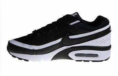 NIKE AIR MAX BW GS TRAINERS Sneakers BLACK / WHITE 820344 001 Shoes