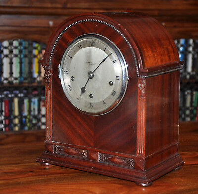 Antique ELKINGTON & CO Glasgow Mahogany Bracket Clock for Restoration (1431)