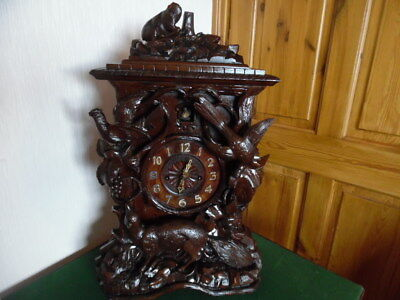 black forest  double fusee cuckoo clock 2ft high