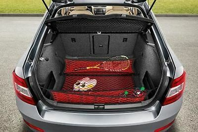 Skoda Octavia Estate (A7) Luggage Nets - Red (5E0017700)