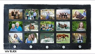 New Rustic Farmhouse Reclaimed Barnwood Multi 15 Picture Frame Collage 5X7 Decor