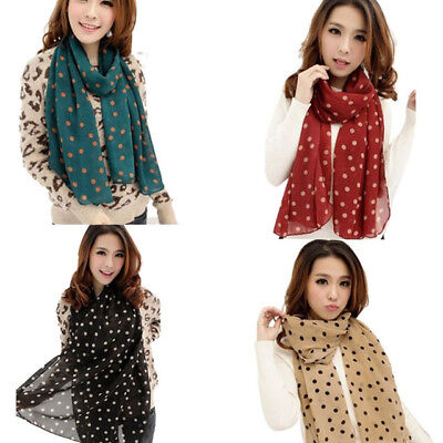 Fashion Women Ladies Chiffon Scarf Soft Wrap Long Shawl Scarves Gift