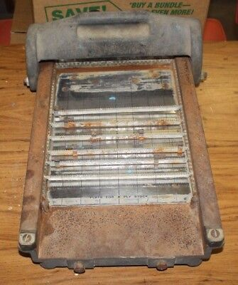 Rare Showcard Machine Printing Press W/ 659 Letters/numbers/symbol Free Shipping