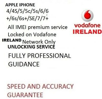 FOR IPHONE 4s/5S/5C/6/6+ VODAFONE IRELAND FACTORY UNLOCK FAST SERVICE ALL IMEI