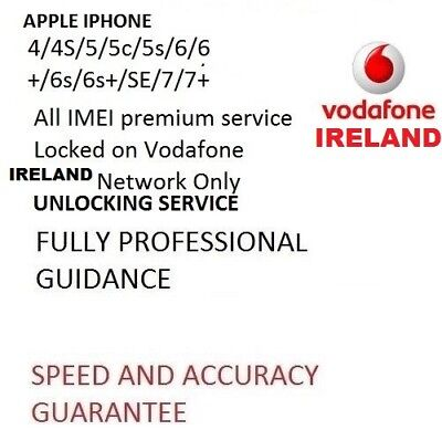 FACTORY UNLOCKING SERVICE FOR IPHONE 5s/6/6s/6s+/7/7+ PLUS VODAFONE IRELAND FAST