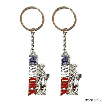 12pcs US New York Souvenir Statue of Liberty Key Chain N5513