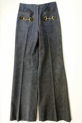 Vintage Gucci High Waisted Flared Blue Jeans Size XS / S