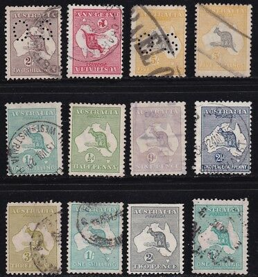 Stamps Australia - Kangaroo Mixed Lot - Various Condition.