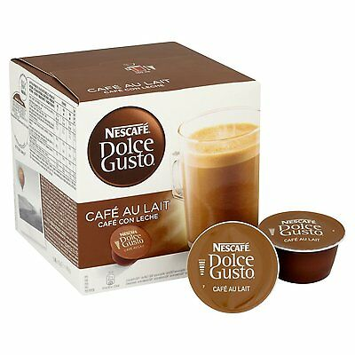 Nescafe Dolce Gusto Cafe Au Lait, Pack of 3 (Total 48 Capsules, 48 servings)