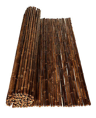 BAMBOO FENCING ROLLS SCREENS BROWN -1.8m(H) x 2.4m(W)