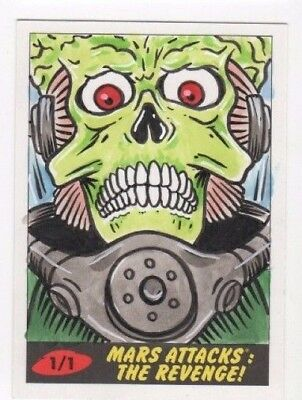 2017 Mars Attacks Revenge sketch card Barry Nygma