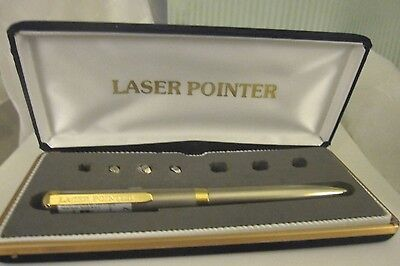 EXECUTIVE LASER POINTER PEN with BOX  Used and Not Tested