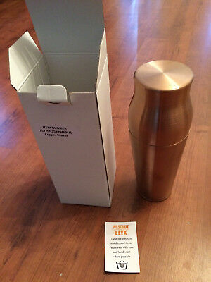 Rare Absolut Elyx Large Copper Shaker With Lid And Gift Box Free Shipping
