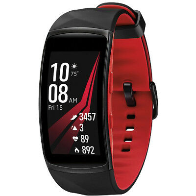 Samsung Gear Fit2 Pro Fitness Smartwatch - Red, Large