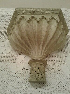 """Carved Wood Lg Wall Sconce Shelf Decor Mantel  11HT. AND 13"""" WIDE"""