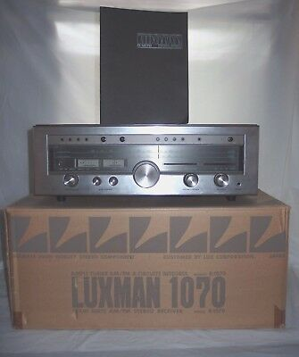 Rare Vintage TOTL Luxman R-1070 Stereo Receiver with Box Manual Japan