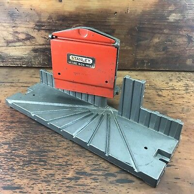Vintage Stanley Adjustable Metal Miter Box H114A Made In The Usa Old Tools