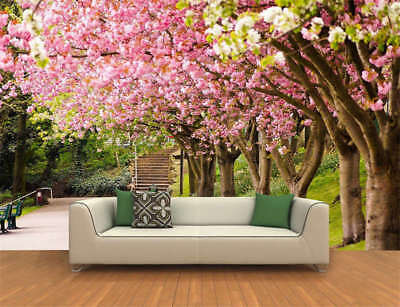 Red flowers Spring Full Wall Mural Photo Wallpaper Printing 3D Decor Kids Home