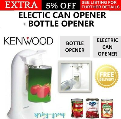 Kenwood Electric Automatic Tin Can Opener & Bottle Opener  3in1 Knife Sharpener