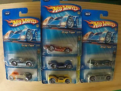 7 x 2005 Hot Wheels, Drop Tops series