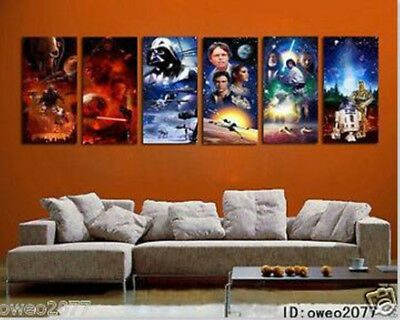 Home Decor Star Wars Oil Painting HD Print On Canvas Wall Art 6pc No Frame