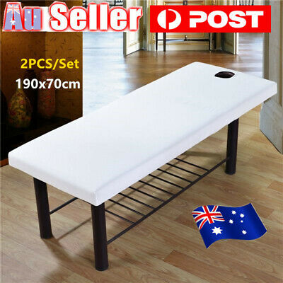 2XBeauty Massage Towelling Bed Table Cover Salon Spa Couches Sheets 190* 70CM AU