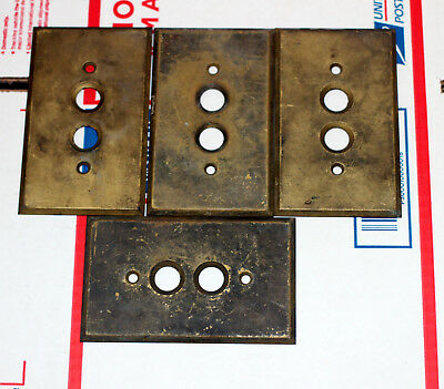 Antique .040 Solid Brass Thick Outlet Switch Push Button Plates Plate Covers