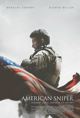 "AMERICAN SNIPER 2014 Original DS 2 Sided 27x40"" US Movie Poster Bradley Cooper"
