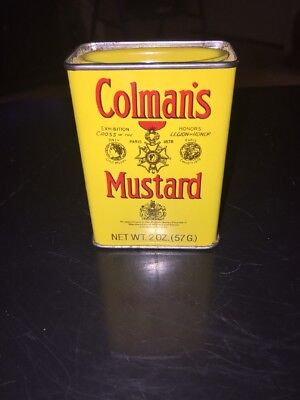 Vintage Colman's Mustard Spice Tin Can 2oz. Advertising From England
