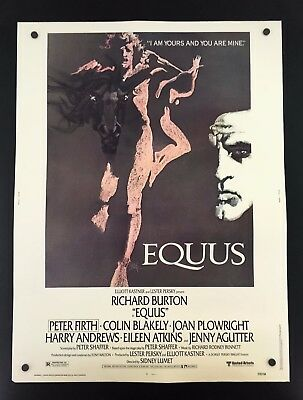 Original 1977 EQUUS 30 x 40 Theatre Movie Poster RICHARD BURTON