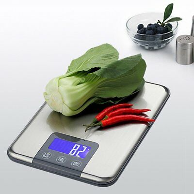 15kg Stainless Steel Digital LCD Electronic Kitchen Vege Food Weighing Scale BN