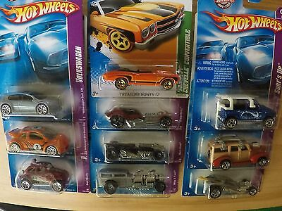 10 x Hot Wheels, RARE Treasure Hunts, VW Beetle
