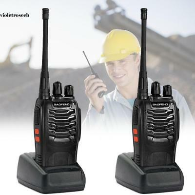 2* Baofeng BF-888S + 2*Headset UHF CTCSS/CDCSS Hand-Funkgerät Walkie-Talkie