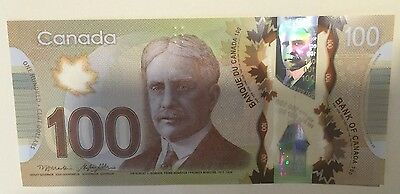 Canada 2011 UNC $100 Dollars Canadian Polymer Banknote FKS322852*
