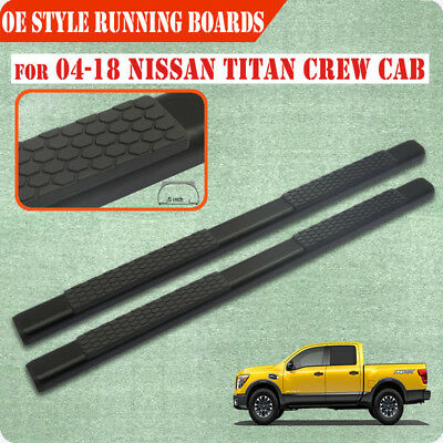 """Stainless Steel 5/"""" Nerf Bar Side Step Board For 04-15 Nissan Titan Extended Cab"""