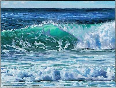 Original Oil Painting, Seascape Oil Painting, Ocean Oil Painting, Beach Painting