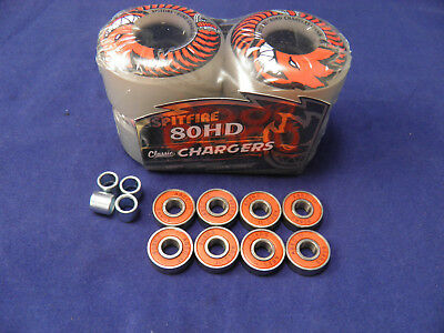 SPITFIRE 58mm/80HD CLASSIC CHARGERS -SKATEBOARD WHEELS+ ABEC 11'S