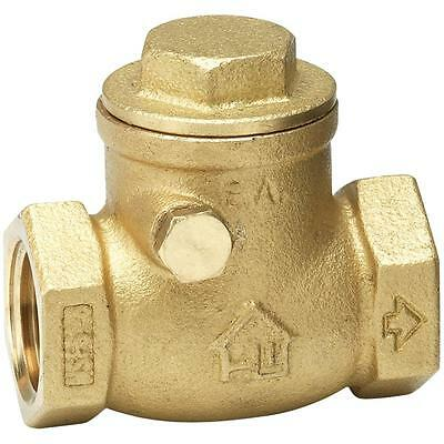 """1-1/4"""" Swing Check Valve,  Low Lead Brass,  Threaded Connection Type"""