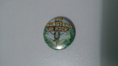 1987 Monsters of Rock buttons vintage SMALL BUTTON