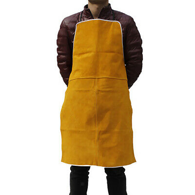 Orange Welder Apron Welding Protective Gear Apparel Cowhide Leather Apron
