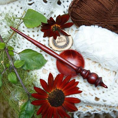 SPINDLE FOR SPINNING NATURAL SIBERIAN CEDAR WOOD for NEEDLEWORK SPINNING #B26