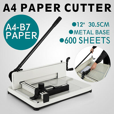 """12""""  A4 Heavy Duty, Ream Guillotine STACK Paper Cutter NEW"""