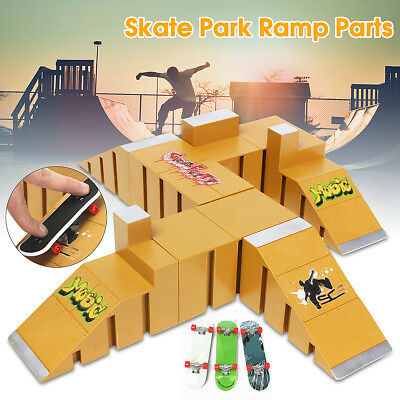92C Skate Park Ramp Parts Toy For Tech Deck Fingerboard Finger Board Parks Area