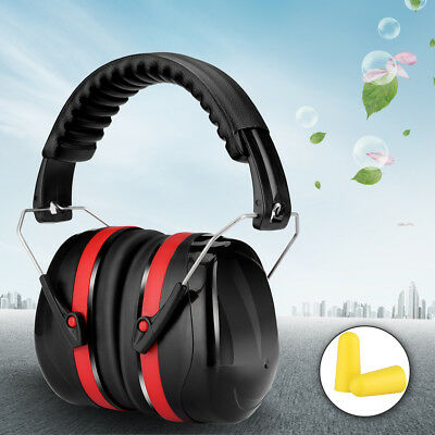 Noise Reduction Earmuff SNR 32dB Folding Ear Defender Hearing Protection Black