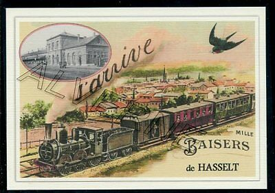 HASSELT  -  train  souvenir creation moderne serie numerotee
