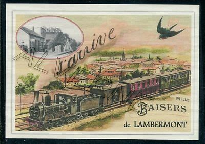 LAMBERMONT-..... train  souvenir creation moderne serie numerotee