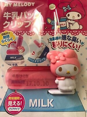 My Melody Kitchen Milk Pack  Sealing Clip Sanrio Japan