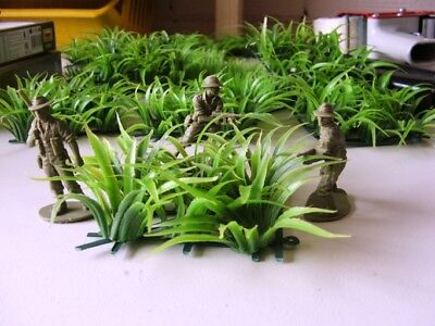 JUNGLE SWORD GRASS Plants Rainforest WW2 Vietnam 1/35 1/32 O G scale plastic